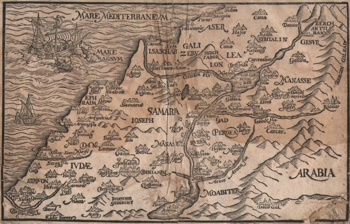 Israel, The Holy Land - Jacob Pauwelszoon Hauwaert - Antwerp 1614