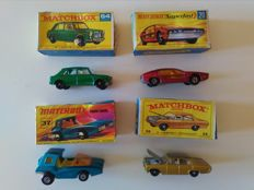 Lesney Matchbox - Misc. scales - Lot with 4 Models: Nos.20, 36, 37 and 64