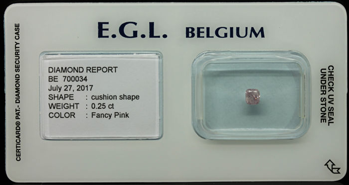 0.25 ct Certified Fancy Pink Diamond  - NO RESERVE