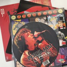 "Pearl Jam, lot of 4 original records including Go 12"", Backspacer, and X-Posed 10"" picture disc"