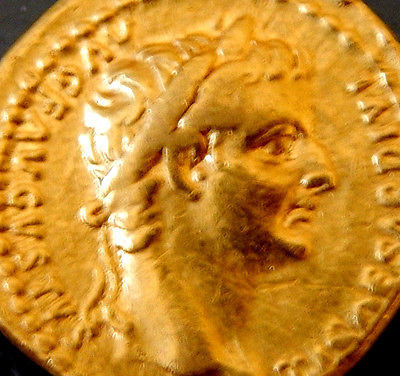 Roman Empire - Tiberius (14-37 AD) - Gold Aureus. Lyons mint, after 16 AD. Livia - Very scarce