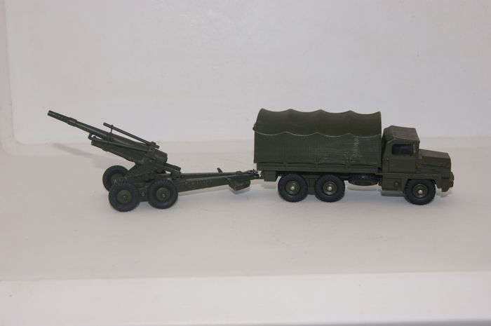 Dinky Toys-France - Scale 1/48 - Military Truck Gazelle Berliet no.824 - and Howitzer of 155mm A.B.S. Howitzer no.80E
