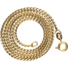 14 kt - Yellow gold, S-link necklace, 46 cm