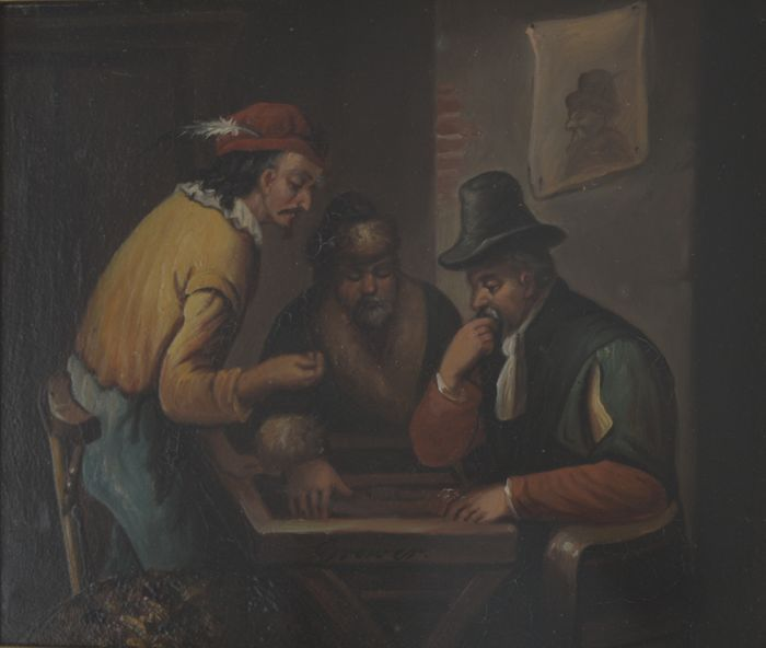 "Unknown Artist (Dutch School) -""The Backgammon Game"""