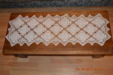 Handmade table runner in Art Nouveau style