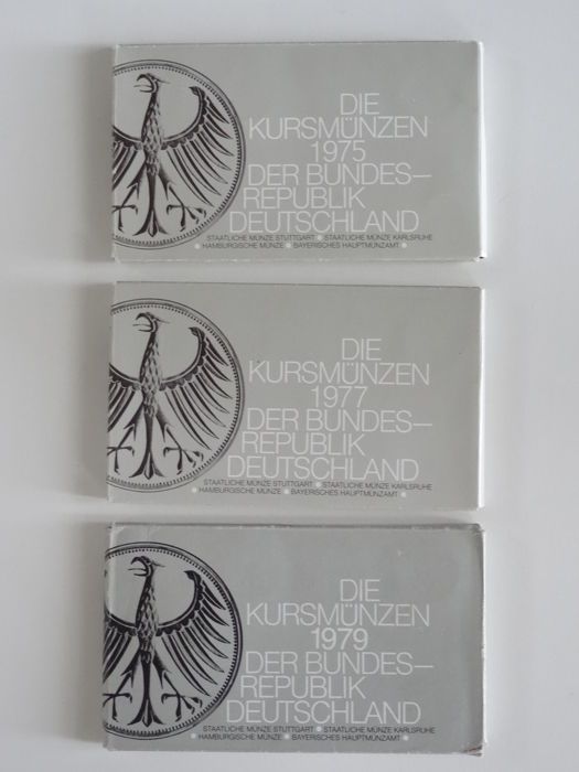 Germany - Coin-Sets 1975 & 1977 & 1979, D, F, G, J (12 sets)