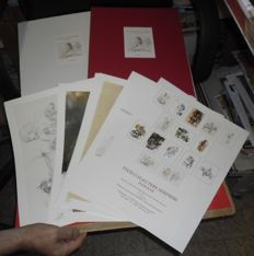 "Serpieri, Paolo Eleuteri - Portfolio ""Indiane"", with 15x lithographs"