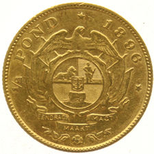 South Africa - ½ pound, 1896 - gold