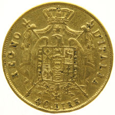 Italy Kingdom of Napoleon - 40 Lire 1812M - gold