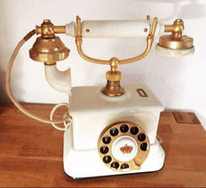Rare, decorative old phone from the first third of the twentieth century, it was the phone of the Danish Embassy Secretary, and it has the Royal Crown on the dial!