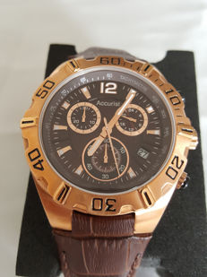 Accurist London - Worldwide Chronograph Gold (Men's) - 2017 Unworn, Complete in Box