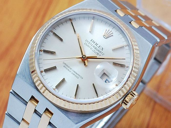Rolex Gold & S/S OysterQuartz DateJust Men's Watch!