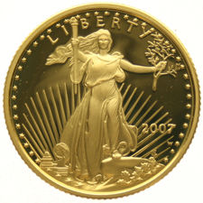 United States – 10 Dollars 2007W – Saint Gaudens – Gold in capsule
