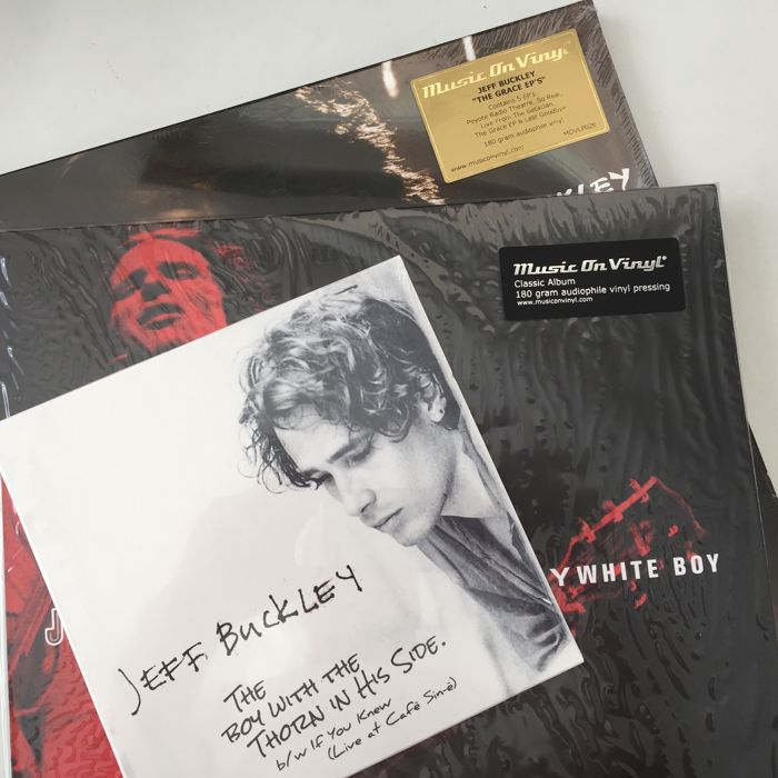 "Jeff Buckley, lot of 3 mint condition records, incl. The Grace EPs 5x12"" Set, Mystery White Boy"