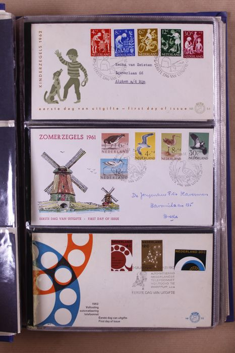 The Netherlands 1961/2002 – Batch of First Day Covers in 8 albums