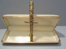 Rare and precious vintage Waterman Lady fountain pen in gold laminate