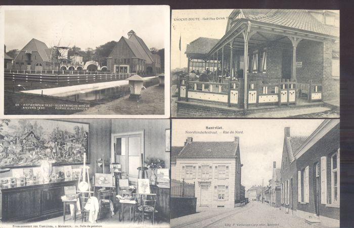 Belgium - Belgique - 173x; old and very old views of villages and cities