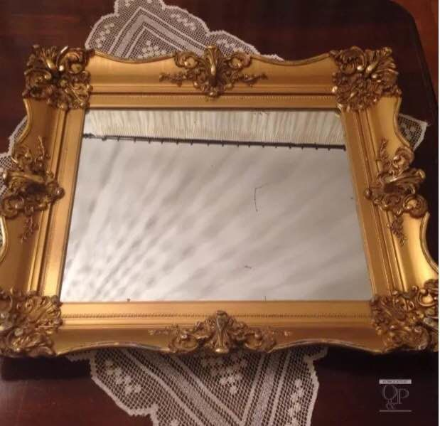 Old French mirror in paste