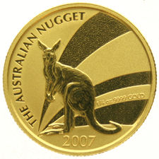 Australia – 25 Dollars 2007 – Kangaroo at Sunset – Gold in capsule