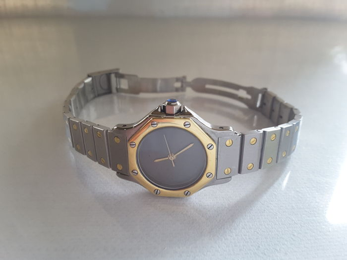 Cartier Santos Octagon – ladies' watch – 1980s.