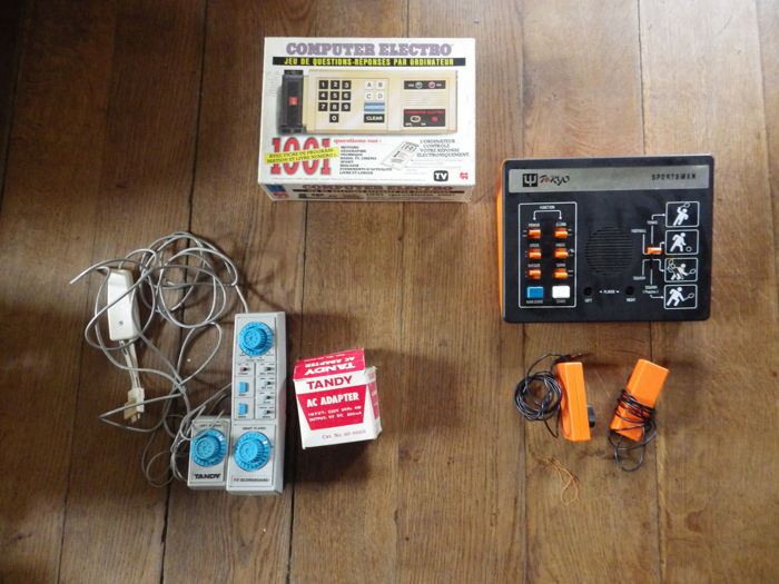 Set of 3 old games - Tandy / Electro computers / Sportsman
