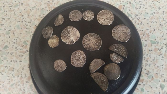 Great Britain - Lot of 16 hammered coins unidentified - silver