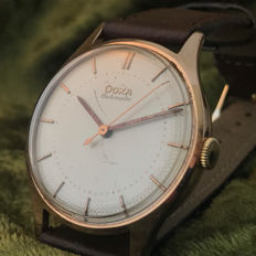 Gold Doxa men's watch - 1950s