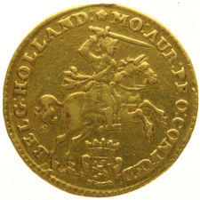 Holland - Half gold rider of 7 gulden, 1750 - gold