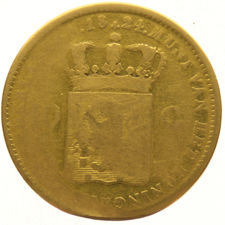 Netherlands - 10 gulden 1824 Brussels, Willem I - gold