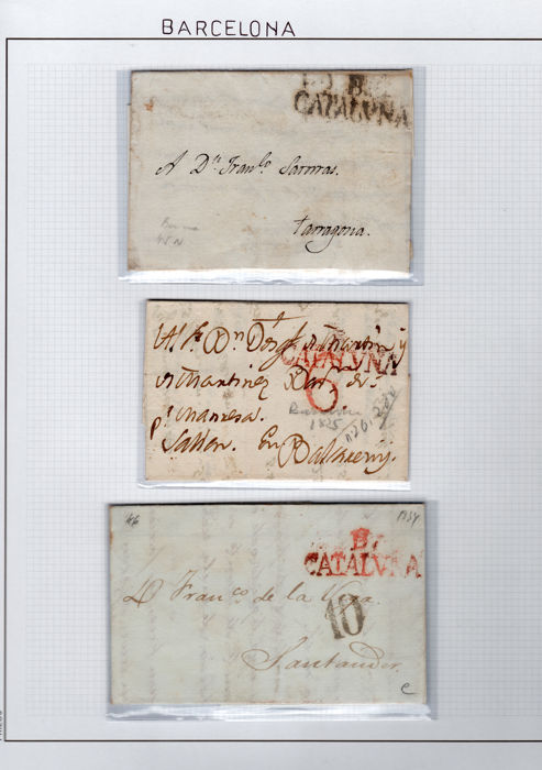 Spain 1820/1939 – Collection of the postal history of Barcelona