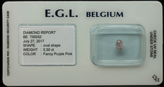 0.30 ct Certified Fancy Purple Pink Diamond  - NO RESERVE