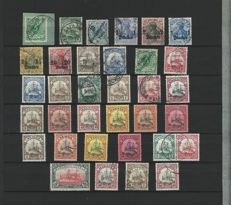 German Ausland Post Offices and colonies 1890/1920 – Selection of 165 pieces