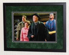 Robert Hardy (RIP) - originally hand signed photo - Premium Framed + Certificate of Authenticity