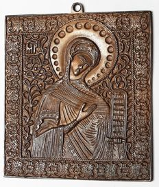 Russian Orthodox travel icon -  'Mother of God ' ~The end of the 19th century - the beginning of the 20th century