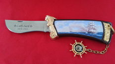 "Franklin mint collectors knife ""the majestic cutty sark knife"""
