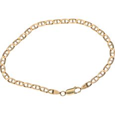 14 kt Yellow gold curb link bracelet – Length: