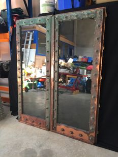 Studded brass double door - from1960-70