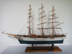 Three master - old wooden ship model