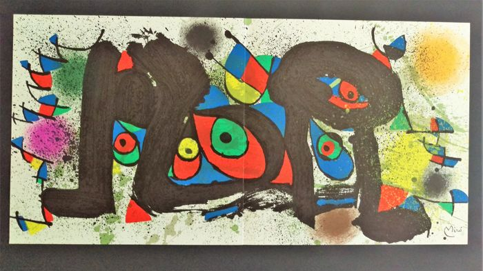Miro - Lithograph from the book Miro Sculpture 1973/74
