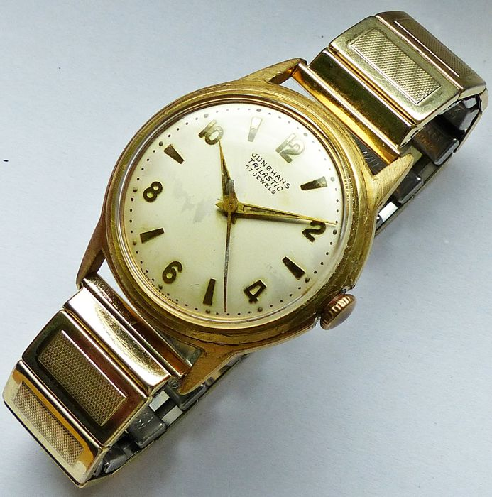 JUNGHANS Trilastic 17 jewels -- men's wristwatch from the 50s