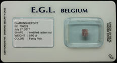 0.90 ct Certified Fancy Pink Diamond  - NO RESERVE