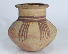 An Egyptian Painted Line Jug - 12,7 cm