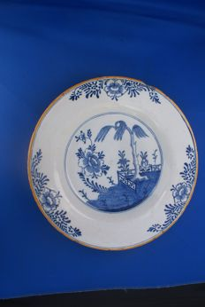 Porceleyne Bijl, Chinoiserie plate 18th century ,