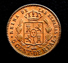 Spain – Isabel II – 5 cents of Real, 1859 – Mint of Segovia