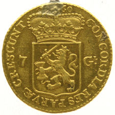 Utrecht - Half gold rider of 7 gulden, 1760 - gold