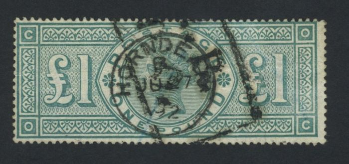 Great Britain Queen Victoria 1891 – £1 Green Michel 99