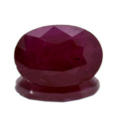 Red ruby – 0.83 ct – No Reserve Price