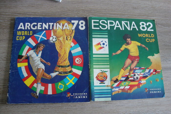 Panini - World Cup 1978 Argentina + World Cup 1982 Spain - 2 incomplete albums.