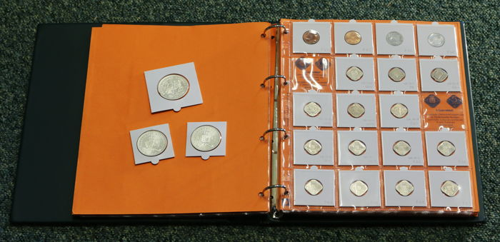 Netherlands Antilles - collection of 119 coins, 1944/1985
