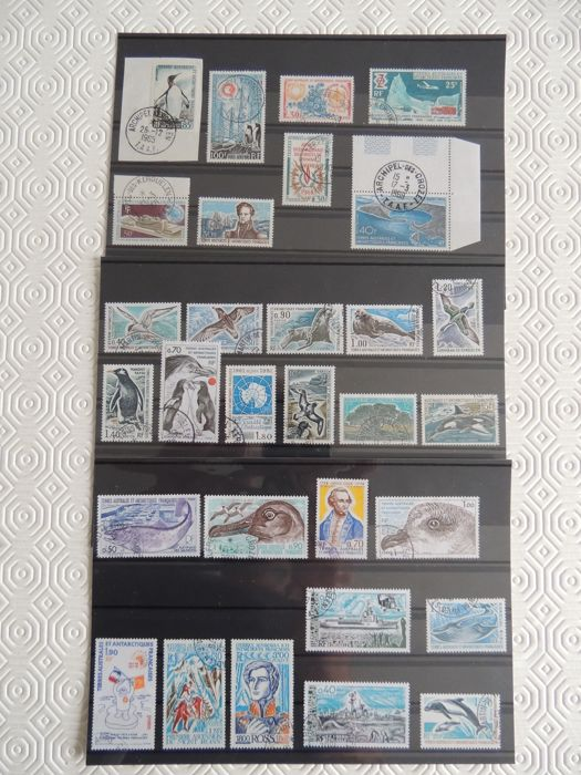 French Southern and Antarctic Lands 1959/1979 – Stamp collection – Yvert between no. 17 and 82 and Airmail between no. 7 and 17